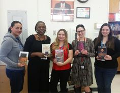 What are you reading? The friendly staff at Wiseburn Library in Hawthorne show off their current books! #ReadersUnite #reading #books A Walk to Remember / Nicholas Sparks The Silent Twins / Marjorie Wallace Harry Potter & the Chamber of Secrets / JK Rowling The Bell Jar / Sylvia Plath Shaken / Tim Tebow.