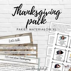 Jak uczyć się angielskiego by się komunikować | elikeenglish English Teaching Resources, English Activities, Teaching Ideas, Thanksgiving Worksheets, Conversation Cards, Middle School Classroom, Can You Be, Seasons Of The Year, New School Year