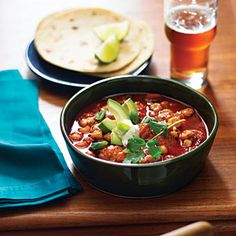 Speedy Chicken Posole with Avocado and Lime | Sunset.com