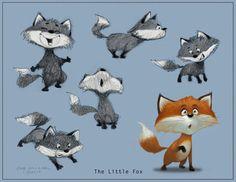 The Little Fox by Guy Wolek, via Behance