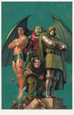 Annihilator, Dr. Doom, Mole Man and Namor by Paolo Rivera