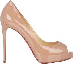 Christian Louboutin New Very Prive Pumps - COLOR: Nude   RED SOLE