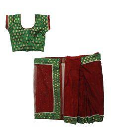 Set: blouse, saree & petticoat www. Kids Saree, Saree Petticoat, Half Saree, Casual Shorts, Blouse, Women, Fashion, Moda, Fashion Styles