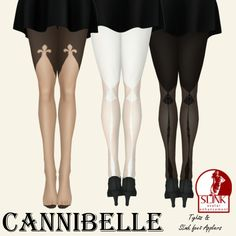 ~Cannibelle~ Fleur de Lis Tights with Slink Feet Appliers | Flickr - Photo Sharing!