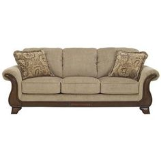 Sofa Cover Signature Design by Ashley Larkinhurst Earth Traditional Queen Sofa Sleeper Northeast Factory Direct