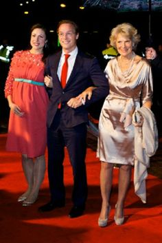 (C) Prince Jaime and (L) Princess Viktoria de Bourbon de Parme and (R) Princess Irene of The Netherlands attend the kingdom's concert at the circus theater in Scheveningen, The Hague, 30.11.13.