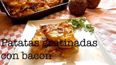 Patatas gratinadas con bacon