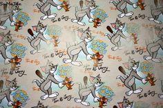 Kinderstoffe - Jersey Tom & Jerry digital Druck beige - ein Designerstück von sumatex bei DaWanda