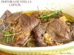 » Friptura de vitel la cuptorCulorile din Farfurie Romanian Food, Carne, Steak, Beef, Food, Fine Dining, Meat, Ox, Steaks