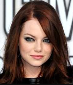 """If you want to become a redhead, look as natural as possible. I cannot stand the """"mahogany"""" purples and """"fire engine"""" reds. My suggestion? Go """"dark auburn,"""" like Emma Stone. Lighter reds fade the quickest... - @GonkDroidBlues"""
