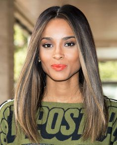 If your ombré starts looking too dip-dyed, add a few soft pieces of highlights to help connect the top with the bottom- love the length & cut too.