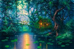 Little Grass Shack Mural - David Miller| Murals Your Way Absolutely beautiful! Great fir ideas but you can't afford it!!
