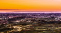 Wheat field at sunrise wide view. Wheat Fields, Fine Art Photography, Tuscany, Airplane View, Sculpture, Sunrises, Ants, Places, Artwork