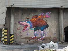 Urban Artists: ARYZ // Mr Pilgrim Graffiti Art Online #graffitiart #aryz #streetart #urbanartists