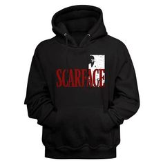 Cool Hoodies, Cool Tees, Scarface Movie, Movie T Shirts, Order Prints, Printed Shirts, Hooded Sweatshirts, Pullover, Movies