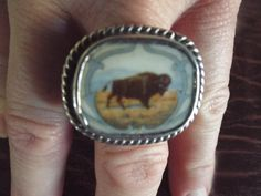 Native American Style Men's Ring  with a by Burnedbunnybling