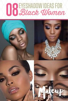 8 Eyeshadow Ideas for Black Women | Eye Makeup Ideas | Everyday Makeup Look For Dark Skin Tone by Makeup Tutorials at http://makeuptutorials.com/8-eyeshadow-ideas-black-women-eye-makeup-ideas/