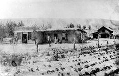 A. F. Miller store and home near Farmington, NM. Circa 1880. Palace of the…