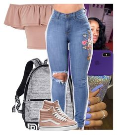 """""""pretty."""" by heeytyy ❤ liked on Polyvore featuring Miss Selfridge, Victoria's Secret, WithChic and Vans"""