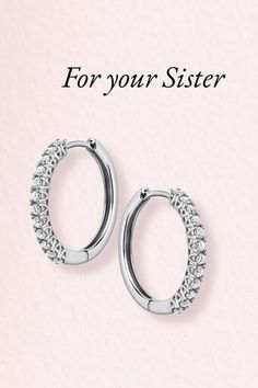 Our Ballerina Diamond Hoops will surely make her stand out this season! Gifts For Your Sister, Sister Gifts, Diamond Jewelry, Jewelry Rings, 77 Diamonds, Beautiful Diamond Rings, Amazing Women, Ballerina, Gift Guide
