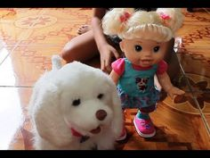 Baby Alive Doll and FurReal Friends Puppy My Walkin' Pup - YouTube