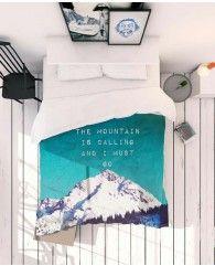 Mountain is calling-JUNIQE Bettwäsche