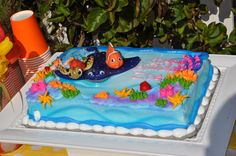 finding nemo baby shower cakes | finding nemo dessert table cake finding nemo dessert table cupcake ...