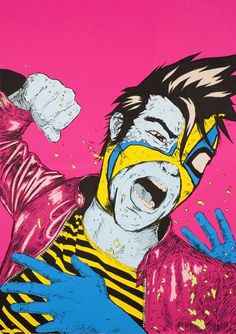James Jirat Patradoon Illustrates Some Dynamic and Surreal Wrestlers #psychedelicart trendhunter.com