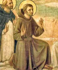 St. Francis of Assisi pray for us and against fire; animals; Catholic Action; dying alone; ecology; environment; families; fire; lacemakers; merchants; peace; zoos. Feast day October 4.