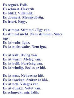 Szókincs :: Német Online - Lupán Ágival Foreign Language Teaching, German Language Learning, Classroom Language, Learn German, Learn English, German Grammar, Language Quotes, Medical Humor, School Humor