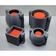 Concrete Crafts, Concrete Wood, Concrete Projects, 3d Printing Business, 3d Printing Diy, Cement Work, Cement Design, Mini Vasos, Cement Flower Pots