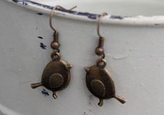 Bird Dangle Earring by FoxCharmDesigns on Etsy