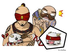Lee Sin Feeding Poro by KittyConQueso on DeviantArt