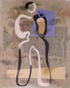 Willi Baumeister, Standing Figure with Blue Plane