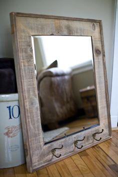 Reclaimed Barnwood Framed Mirror. $195.00, via Etsy.