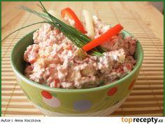 Salámová rychlá pomazánka Czech Recipes, Ethnic Recipes, Ham, Potato Salad, Oatmeal, Food And Drink, Potatoes, Snacks, Breakfast