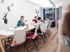 Workspace furniture by Opendesk at The Garage Soho office designed in London and made locally anywhere in the world.
