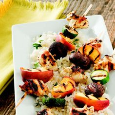 Grilled Chicken and Peach Kabobs http://wm13.walmart.com/Food-Entertaining/Recipes/21717
