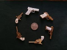 My scratch-built and handmade functional miniature 2mm rimfire and 2mm pinfire pistols: Berloque; Dosick, Fisher firesure, Savage 1907; Walther PPK and Glock 17. YOU CAN SEE HOW THESE MINIATURES WERE MADE, AND WORKING, ON MY YOUTUBE CHANNEL