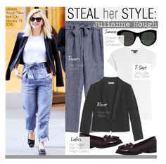 """Steal Her Style-Julianne Hough"" by kusja ❤ liked on Polyvore featuring Vince, JULIANNE, Paule Ka, Elizabeth and James, women's clothing, women, female, woman, misses and juniors"