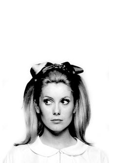 Catherine Deneuve photograhed by David Bailey for Vogue UK, 1967