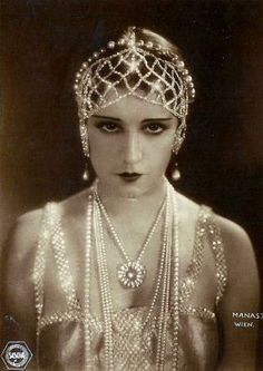 Mesmerizing stare for sure. Vilma Banky, Hungarian actress.