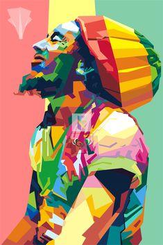 May your holiday be lively & bright! Bob Marley Painting, Bob Marley Art, Arte Do Hip Hop, Hip Hop Art, Pop Art Portraits, Portrait Art, Rastafari Art, Reggae Art, Reggae Music