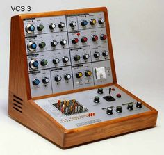 EMS Synthi VCS3. Love the design of this one. And the sound of course.  As Jean Michel Jarre: http://www.youtube.com/watch?v=Sj7A8SX7ccI