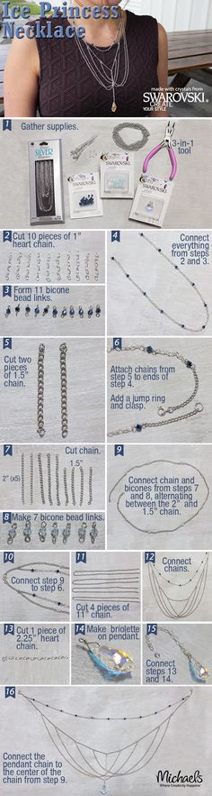 Create your own DIY Ice Princess Necklace following these steps