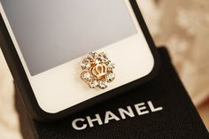 Brandbuy(TM)1 pcs Bling White Crown iPhone Home Button Sticker for iPhone 4,4s,4g, iPhone 5,5s,5c, iPad, Cell Phone Charm
