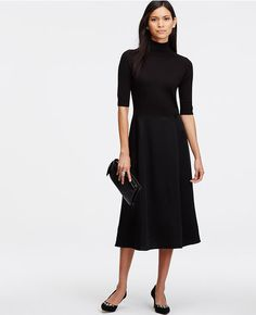 Primary Image of Satiny Sweater Dress