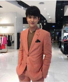 K. James Jirayu in our orange linen suit Thank you stylist @janevit456 by pinkytailor