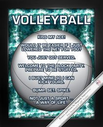 Buy Volleyball Sport Poster Print and boost team morale! Funny Volleyball Sayings will keep players inspired. Shop Volleyball Gifts for Men and Women. Volleyball Shirts, Volleyball Cheers, Volleyball Posters, Play Volleyball, Volleyball Ideas, Funny Volleyball Quotes, Girls Softball, Softball Players, Sports Posters