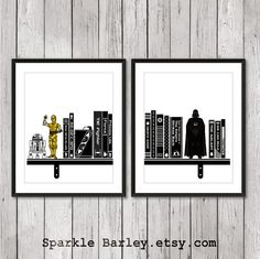 Pop Art Movie Art Prints. Star Wars Poster Darth by SparkleBarley